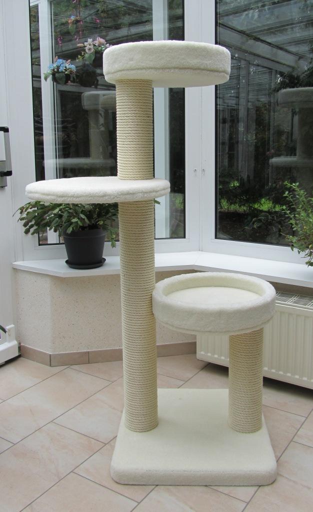 kerbl 82529 kratzbaum safari 38 x 38 x 60 cm dunkelbraun mit borte bunte. Black Bedroom Furniture Sets. Home Design Ideas